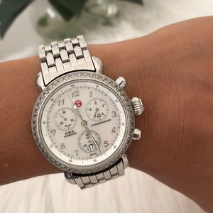 Michelle CSX 36 diamond chronograph watch